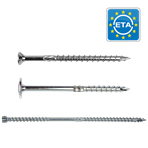 Wood construction screws