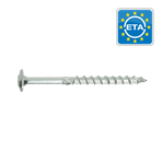 Wood construction screws flange head